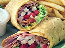 Try one of our famous wraps or mile high-melts 24 hours a day